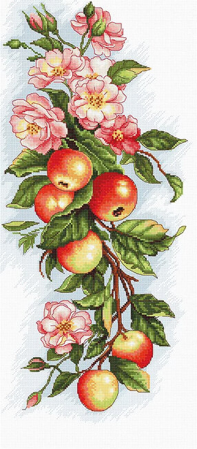 Composition with Apple - Cross Stitch Kit