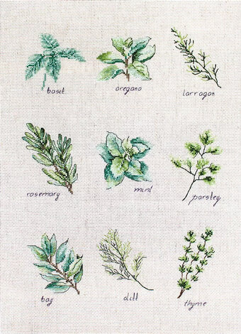 Spices and Herbs - Cross Stitch Kit