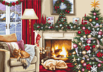 Christmas Interior - Cross Stitch Kit