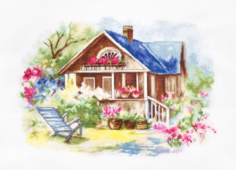 Outdoor Veranda - Cross Stitch Kit