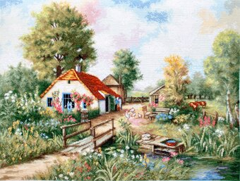 Summer Village Landscape - Cross Stitch Kit