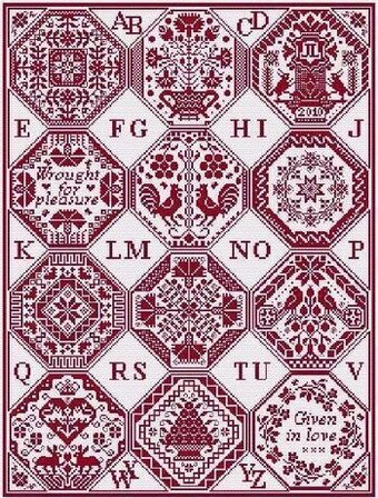 Quaker's Dozen - Cross Stitch Pattern