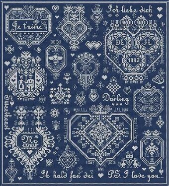 Mots d'Amour - Cross Stitch Pattern
