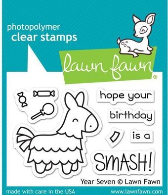 Year Seven - Birthday Clear Stamp