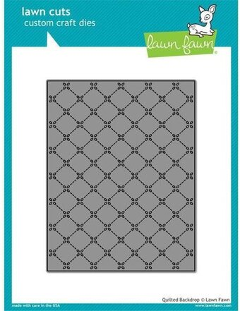Quilted Backdrop - Lawn Fawn Craft Die
