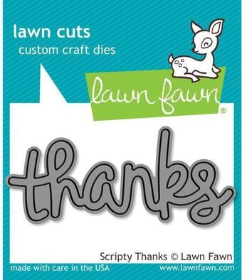 Scripty Thanks - Lawn Cuts Die