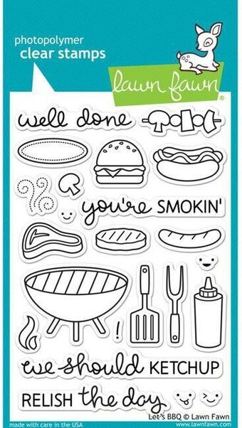 Let's BBQ - Clear Stamp