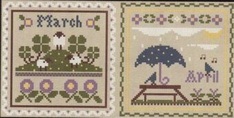 Sampler Month March and April - Cross Stitch Pattern