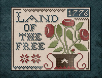 Liberty 1776 Little House Needleworks Counted Cross Stitch Pattern