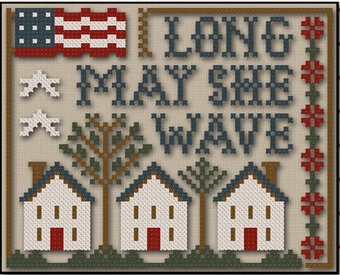 Long May She Wave - Cross Stitch Pattern