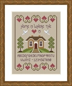 Home Is Where the Heart Is - Cross Stitch Pattern