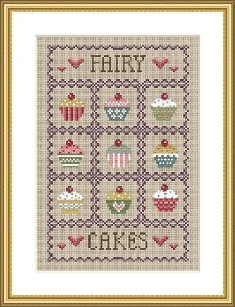 Fairy Cakes - Cross Stitch Pattern