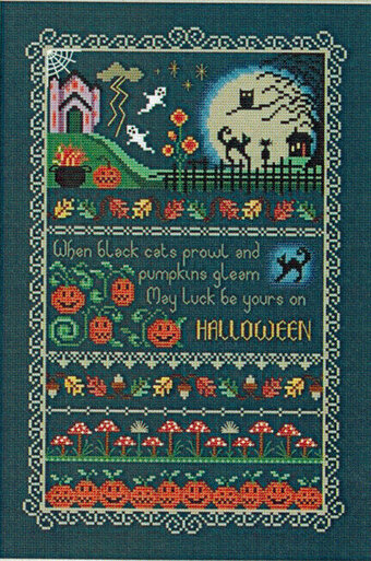 Black Cats and Pumpkins - Cross Stitch Pattern