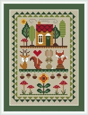 Woodland Friends - Cross Stitch Pattern