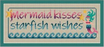 Mermaid Kisses - Cross Stitch Pattern