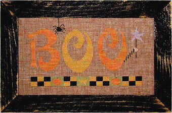 Boo - Lizzie Kate Halloween Cross Stitch Pattern