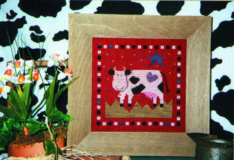 Midnight Cow - Cross Stitch Pattern