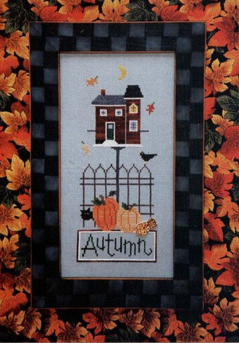 Autumn Button-Up (with button) - Cross Stitch Pattern