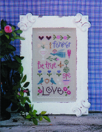 Love Sampler - Cross Stitch Pattern
