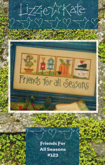 Friends For All Seasons (with charms)- Cross Stitch Pattern