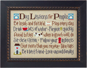 Dog Lessons for People - Cross Stitch Pattern