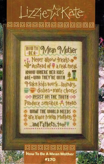 How To Be a Mean Mother - Cross Stitch Pattern