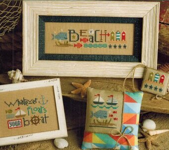 Red White & Beach - Cross Stitch Pattern