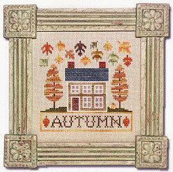 Autumn Cottage Boxer - Cross Stitch Kit