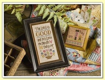 The Lord Is Good Inspirational Boxer - Cross Stitch Kit