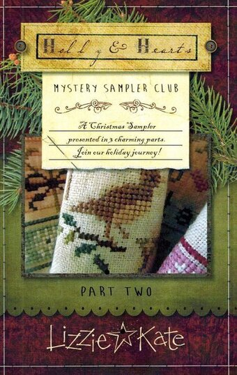 Holly & Hearts Mystery Sampler Part 2 - Cross Stitch Pattern