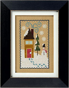 Snow House - 6 Fat Men Series - Cross Stitch Pattern