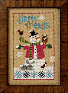 6 Fat Men Series - Snow Friends -  Cross Stitch Pattern