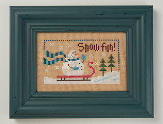 Snow Fun - 6 Fat Men Series - Cross Stitch Pattern