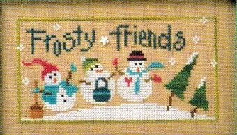 6 Snow Belles - Frosty Friends - Cross Stitch Pattern