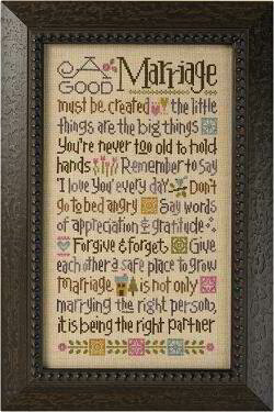 A Good Marriage - Cross Stitch Kit