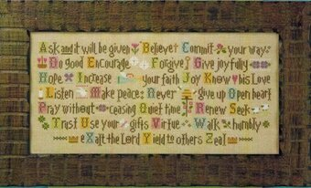 ABCs of Faith - Cross Stitch Kit