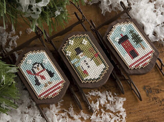 Snowy Sleds - Cross Stitch Pattern