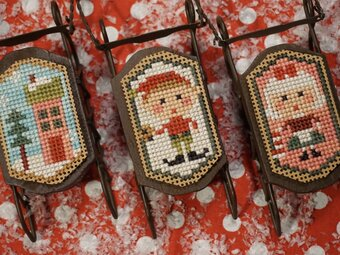 Home for the Holidays Sleds - Cross Stitch Pattern