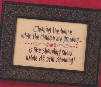 Cleaning the House - Cross Stitch Pattern