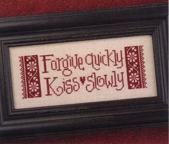 Forgive Quickly - Cross Stitch Pattern