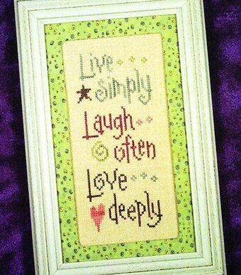 Live Laugh Love - Now and Then - Cross Stitch Pattern