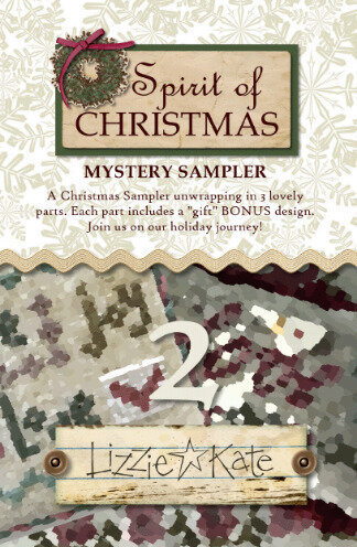 Lizzie Kate Spirit of Christmas Mystery Sampler Part 2