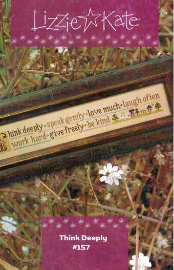 Think Deeply - Cross Stitch Pattern