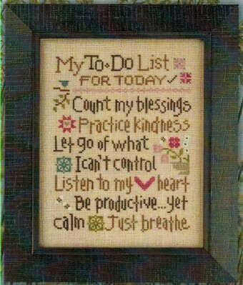 My To Do List - Cross Stitch Pattern