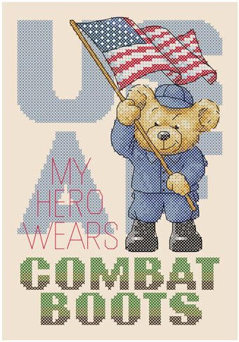 Boots in the House - USAF (US Air Force) - Cross Stitch Pat