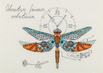 Clockwork Dragonfly - Cross Stitch Kit
