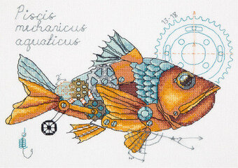 Clockwork Fish - Cross Stitch Kit