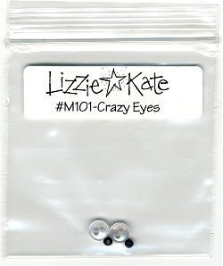 Crazy Eyes (Tiny Buttons and Beads)