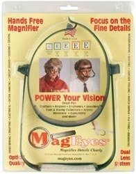 MagEyes Magnifier Glasses - Lenses 5 (2.25X) & 7 (2.75X)