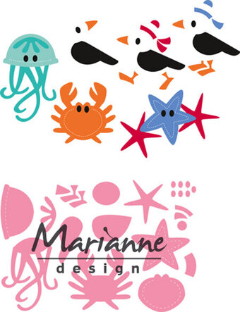 Marianne Design Collectables Die - Eline's Seagull & Friends